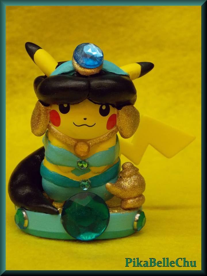 Custom Princess Jasmine Pikachu Amiibo by pikabellechu on DeviantArt