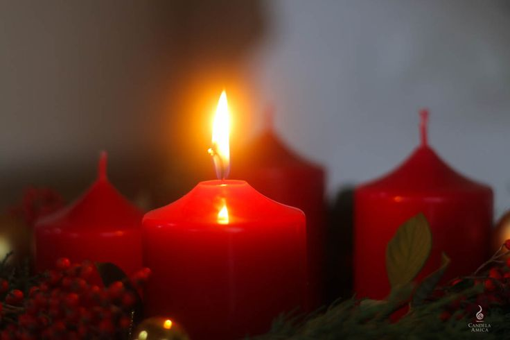 First #Advent, our beautiful advent #wreath with a very simple version of our #handmade candles ...