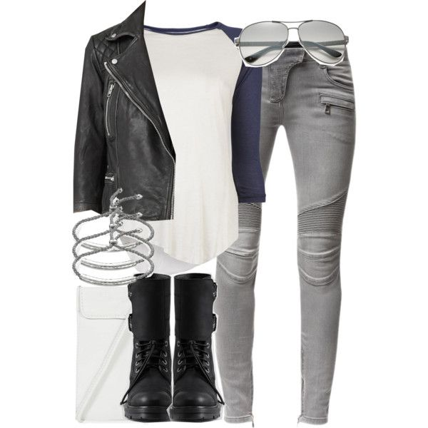 Cora Inspired Outfit by veterization on Polyvore featuring Neuw, AllSaints, Balmain, Monica Vinader, Jimmy Choo and Topshop