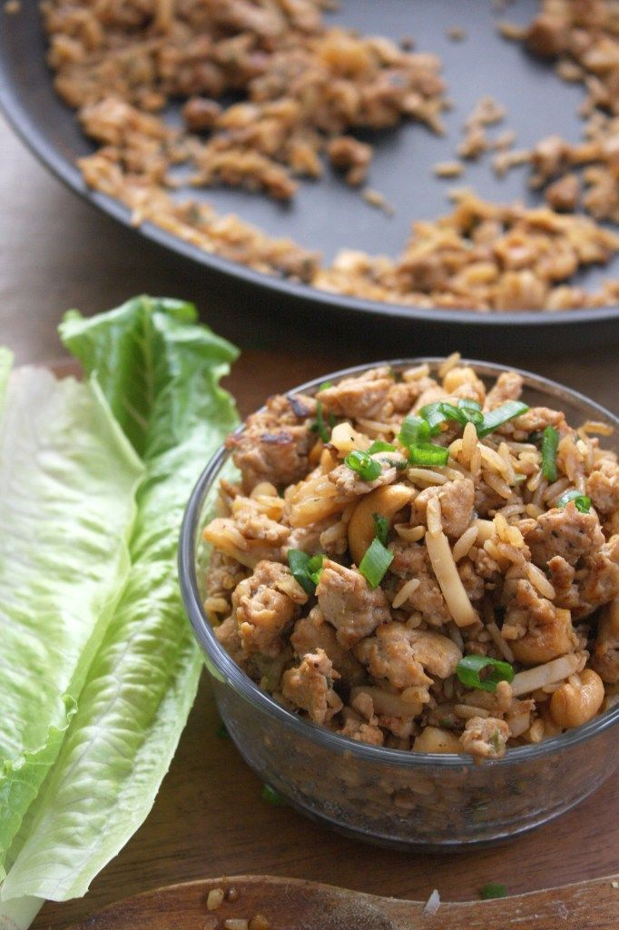 30 Minute Cashew Chicken Lettuce Wraps