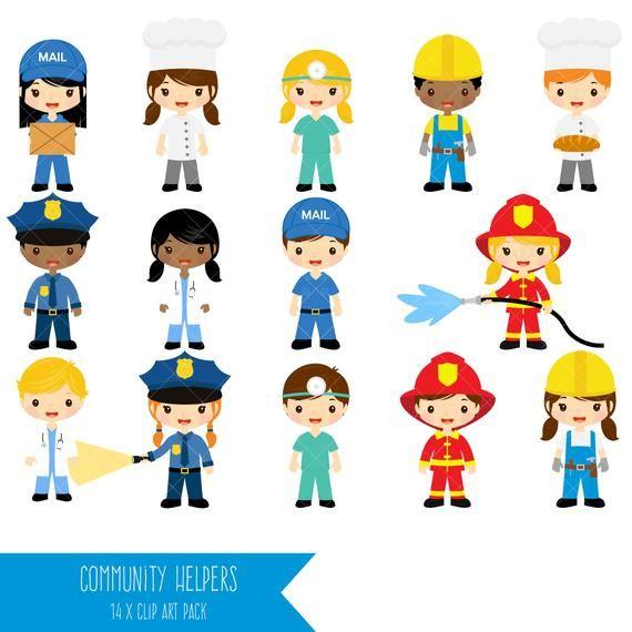Community Helpers Clipart Job Clip Art Profession Clipart Etsy Community Helpers Clip Art Community Helpers Theme
