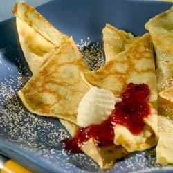 This recipe is so delicious and easy to make.  I come from a really Swedish town - Rockford, Illinois - where Swedish pancakes are a favorite for Sunday morning breakfast.  My Dad used to make these for us at home for a special treat. Serve with butter and maple syrup, or lingonberries if you've got them.