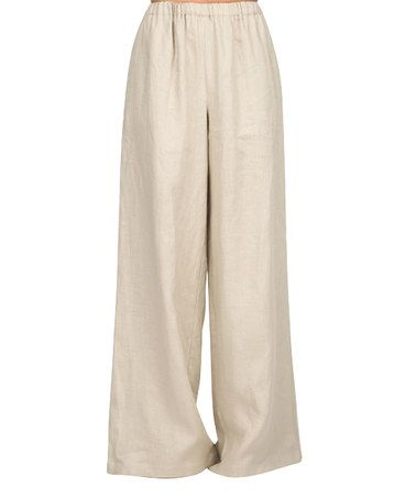Look what I found on #zulily! Beige High-Waist Palazzo Pants #zulilyfinds