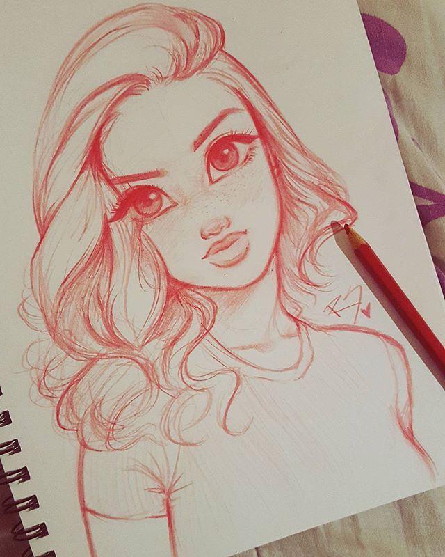 Ich liebe es, inspiriert zu werden, und @melmadedooks hat mich dazu inspiriert, einige Übungsskizzen zu machen, also fordere ich mich selbst auf, täglich eine Skizze zu machen! Seien Sie also auch darauf vorbereitet, viel von diesem Stift zu sehen! ~ Eine Skizze pro Tag hält den Kunstblock fern! ~ #Practice #art #sketch