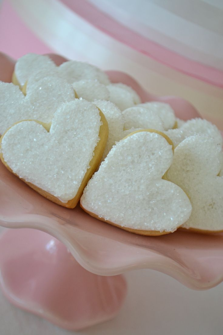 Sparkling heart sugar cookies by Bake Sale Toronto.