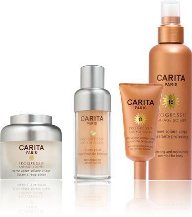 Crème solaire anti age : Carita, crème solaire progressif anti-age