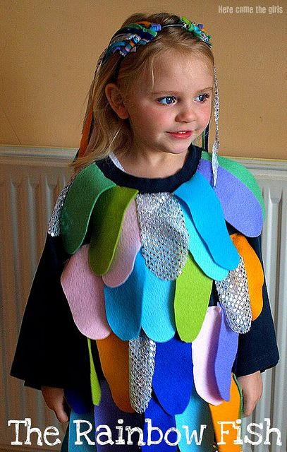Rainbow fish costume costumes playing dress up pinterest for Rainbow fish costume