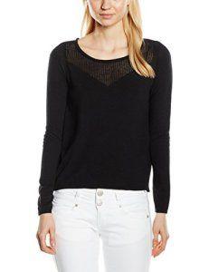 Naf Naf Noelle, Sweat-Shirt Femme^Femme, Noir (0625 Noir), FR: 40 (Taille Fabricant: L): Tweet