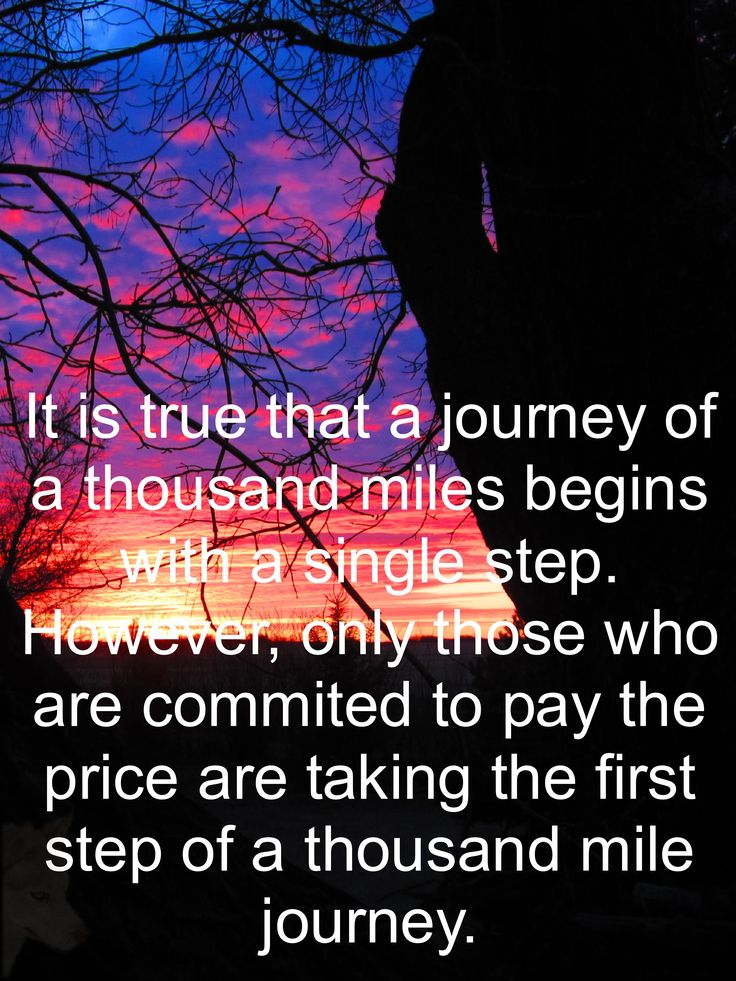 The first step of a thousand mile journey.