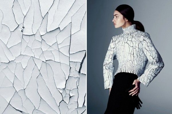 Where I See Fashion, Designer Matches Fashion Images With Art and Nature Photography