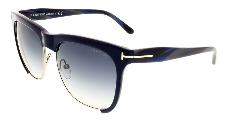 Discreet Tom Ford signature etched lenses and t-bar temples- Dimensions:57mm-16mm-140mm Tom Ford signature take on the classic vintage inspired cateye- Silver tone trim Timeless and fashion forward silhouette- Celebrity must have Comes in original Tom Ford case with cleaning cloth 100% authenticity guaranteed or your money back Arm Length: 140 Bridge Width: 16 Country Of Origin: IT Item Type: sunglasses Lens Color: Black Gradient Lens Material: Plastic Lens Width: 57 Style: Wayfarer