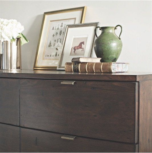 Winchester Dark Rustic Wooden Large Chest of Drawers ...