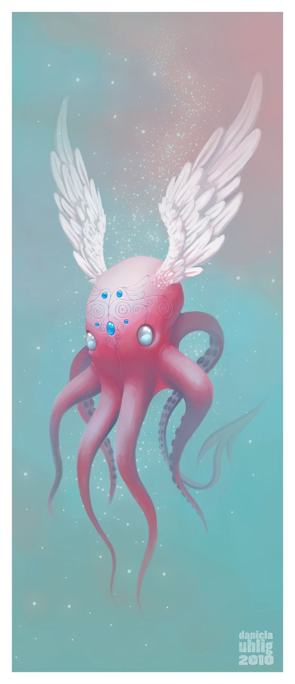 flying octopus by DanielaUhlig.deviantart.com on @deviantART