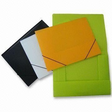 File Folders, Eco-friendly Made of PP, Customized Designs and Logos are Accepted