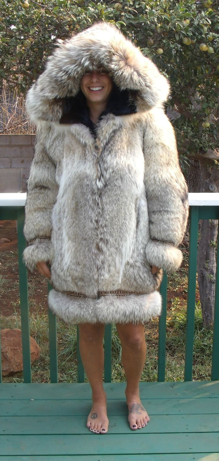 Wolf fur Parka , Alaska Fur Gallery Cree Indian Mittens
