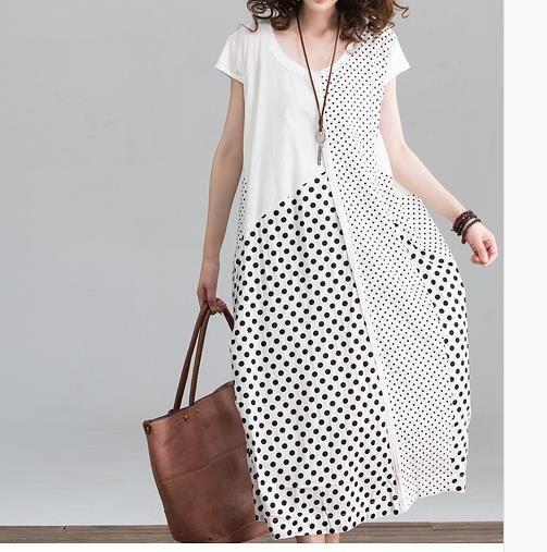 maxi dress summer dress cotton dress plus size dress by customsize, $78.00