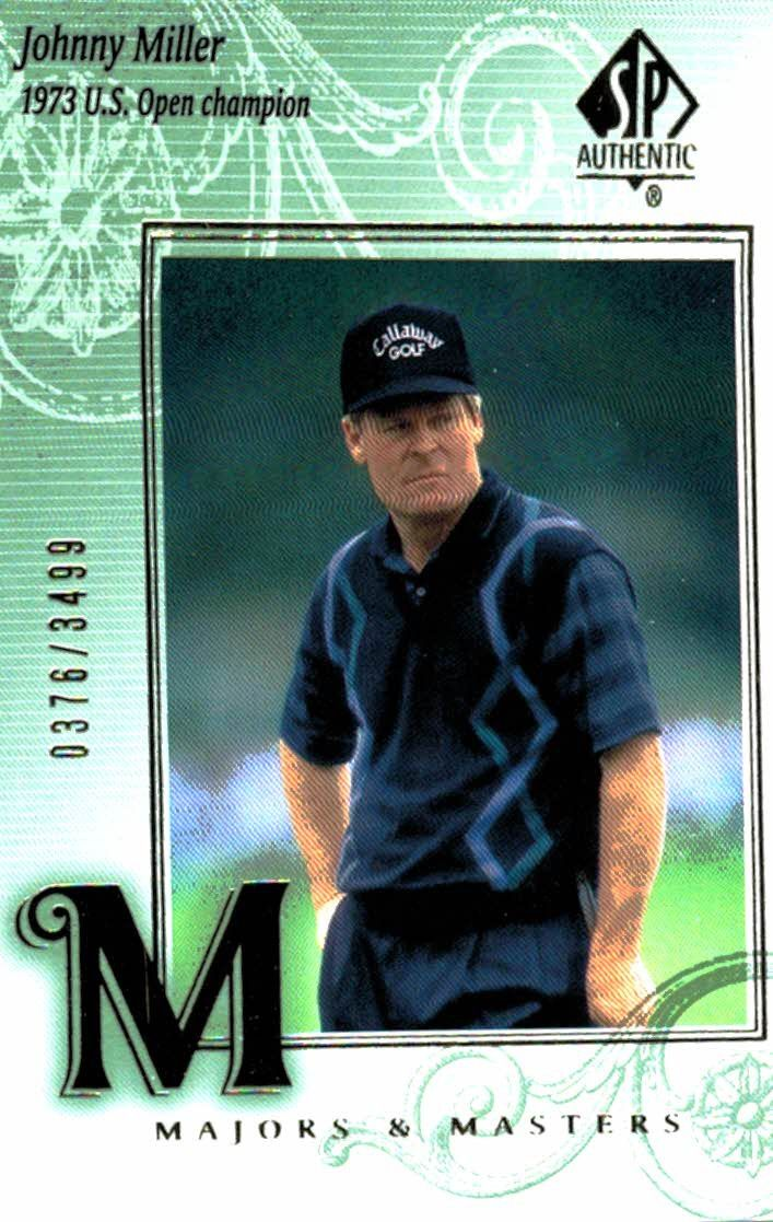 2002 SP Authentic Johnny Miller Majors & Masters /3499 Golf Card
