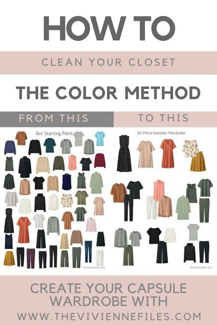 How to Clean Out Your Closet – The Color Method