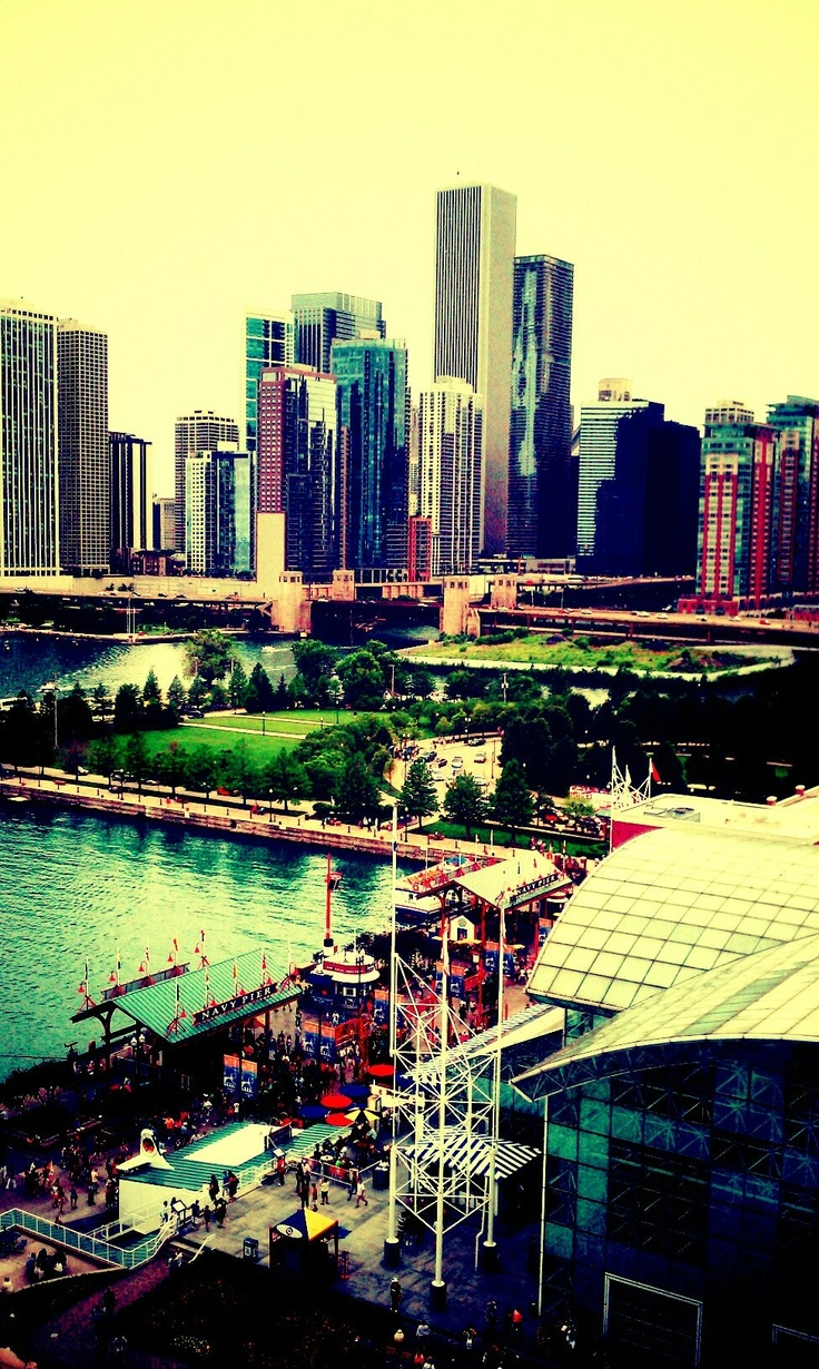 Navy Pier, Chicago - we boarded a boat here for a river tour of the Chicago architecture - amazing!