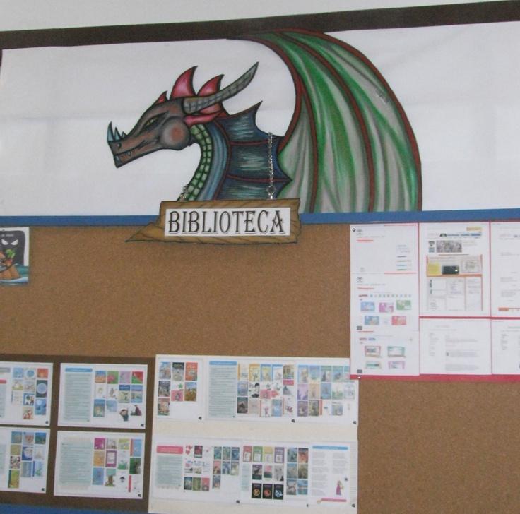Tablón de anuncios de la biblioteca. CEIP La Santa Cruz, Almuñécar