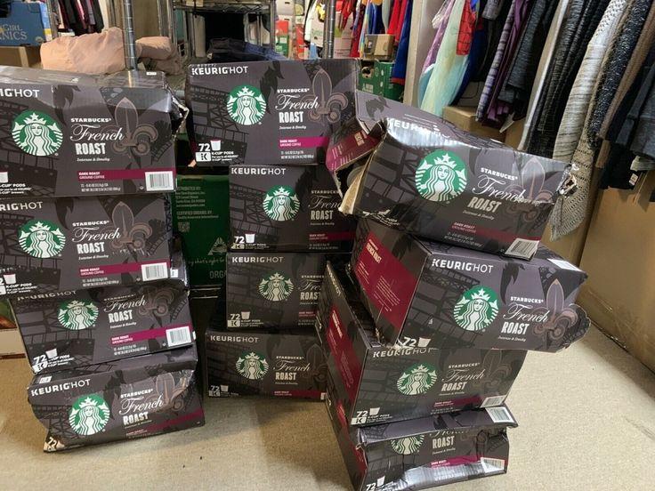 Starbucks French Roast Espresso 72 Ok Cups New in Broken Field