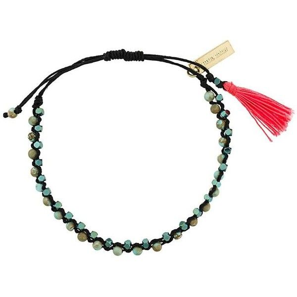 Isabel Marant Hotel Excelsior beaded bracelet ($73) ❤ liked on Polyvore featuring jewelry, bracelets, blue, bohemian jewelry, blue jewelry, boho chic jewelry, beaded jewelry and beaded bangles