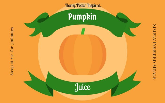 This tea is inspired by the Pumpkin Juice available at the Wizarding World of Harry Potter. Pumpkin Juice is a favorite of the characters in the books and movies. It is a favorite of muggles everywhere now!