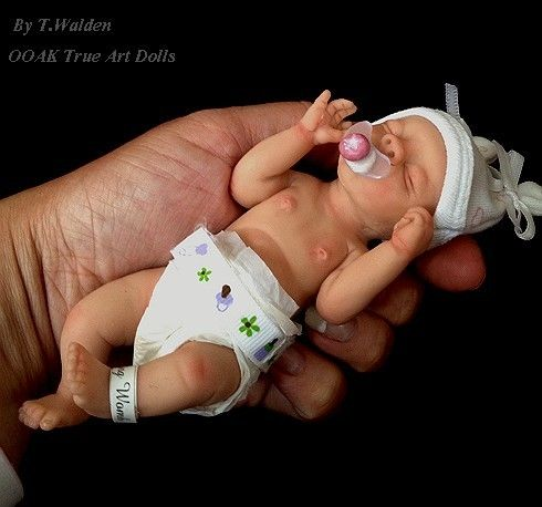 Ooak Cute Realistic Newborn Baby Girl Lucy 6 Quot Mini Sculpt