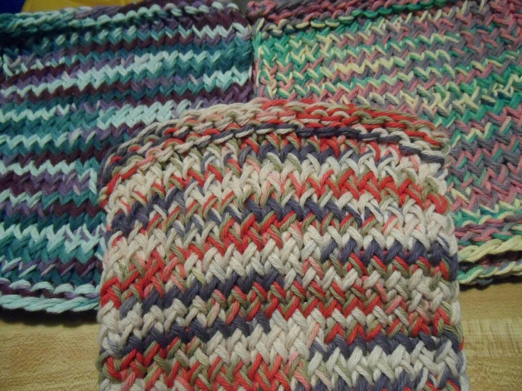 Dish Network Knitting : Dish rags made on a loom by haley mills my looming