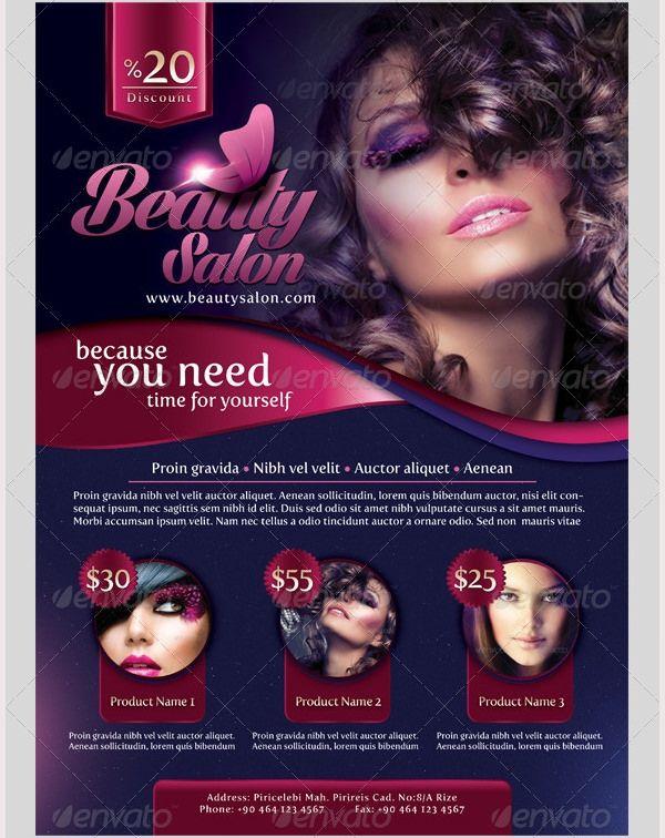 Free Hair Salon Flyer Templates Psd Beauty Salon Flyer Templates