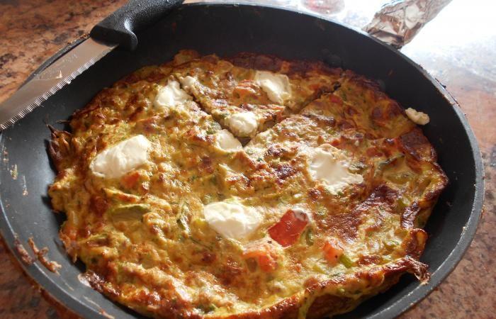 Régime Dukan (recette minceur) : Frittata tomate-courgette #dukan http://www.dukanaute.com/recette-frittata-tomate-courgette-12723.html