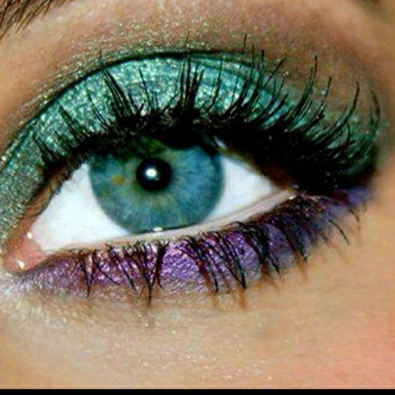 Mardi Gras eye makeup! How fun: Eye Makeup, Purple, Bright Eye, Eye ...