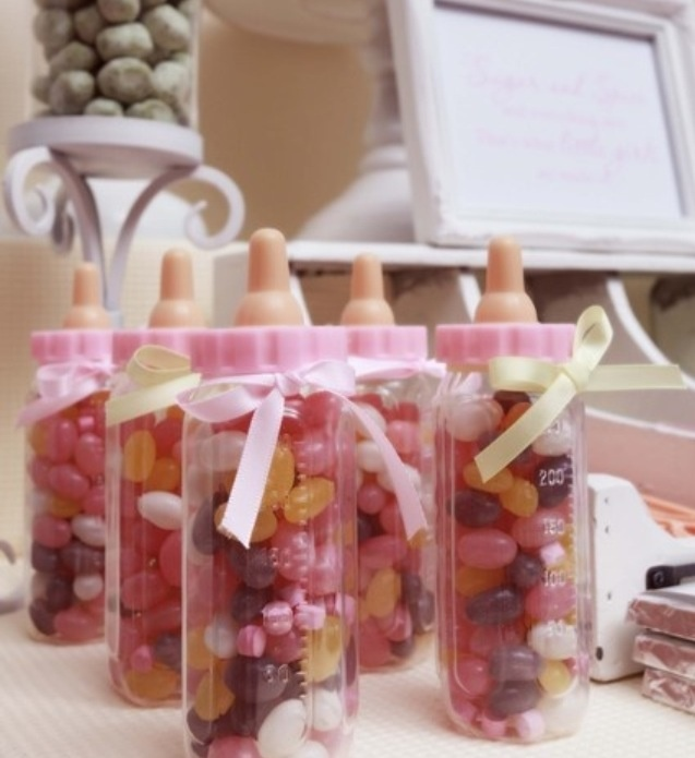 Party Jelly Ideas: Pink & Yellow Baby Girl Shower Baby Shower Party Ideas