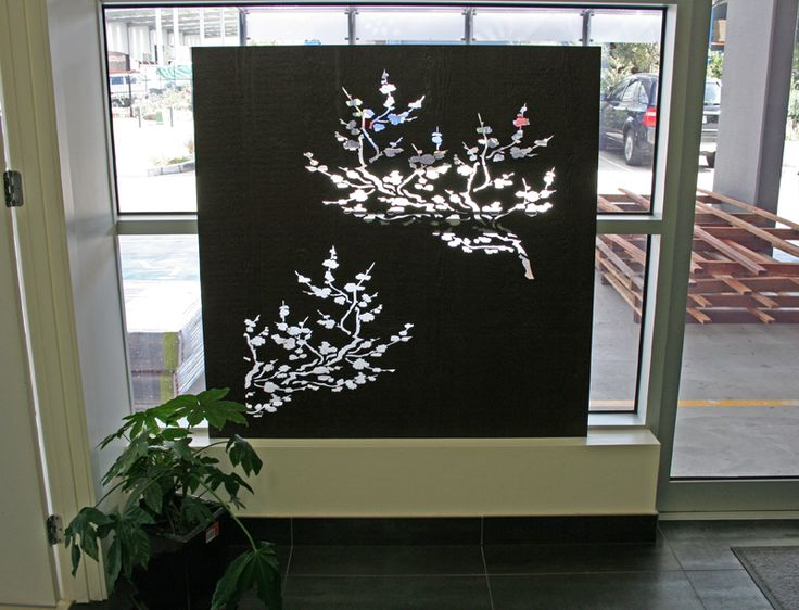 'Cherry Blossom' decorative screen panel in our reception area of the factory here in Melbourne, QAQ headquarters.