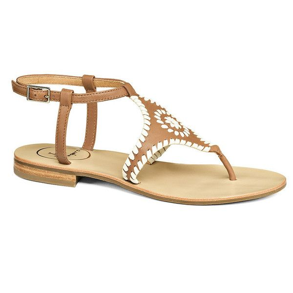 Maci Sandal in Bone and Gold by Jack Rogers // email xcgal98@gmail.com for 20% off