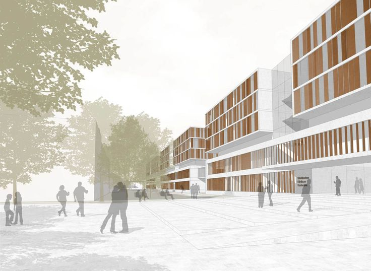 Karlsruhe Medical Centre extension by gmp architects von Gerkan, Marg and Partners