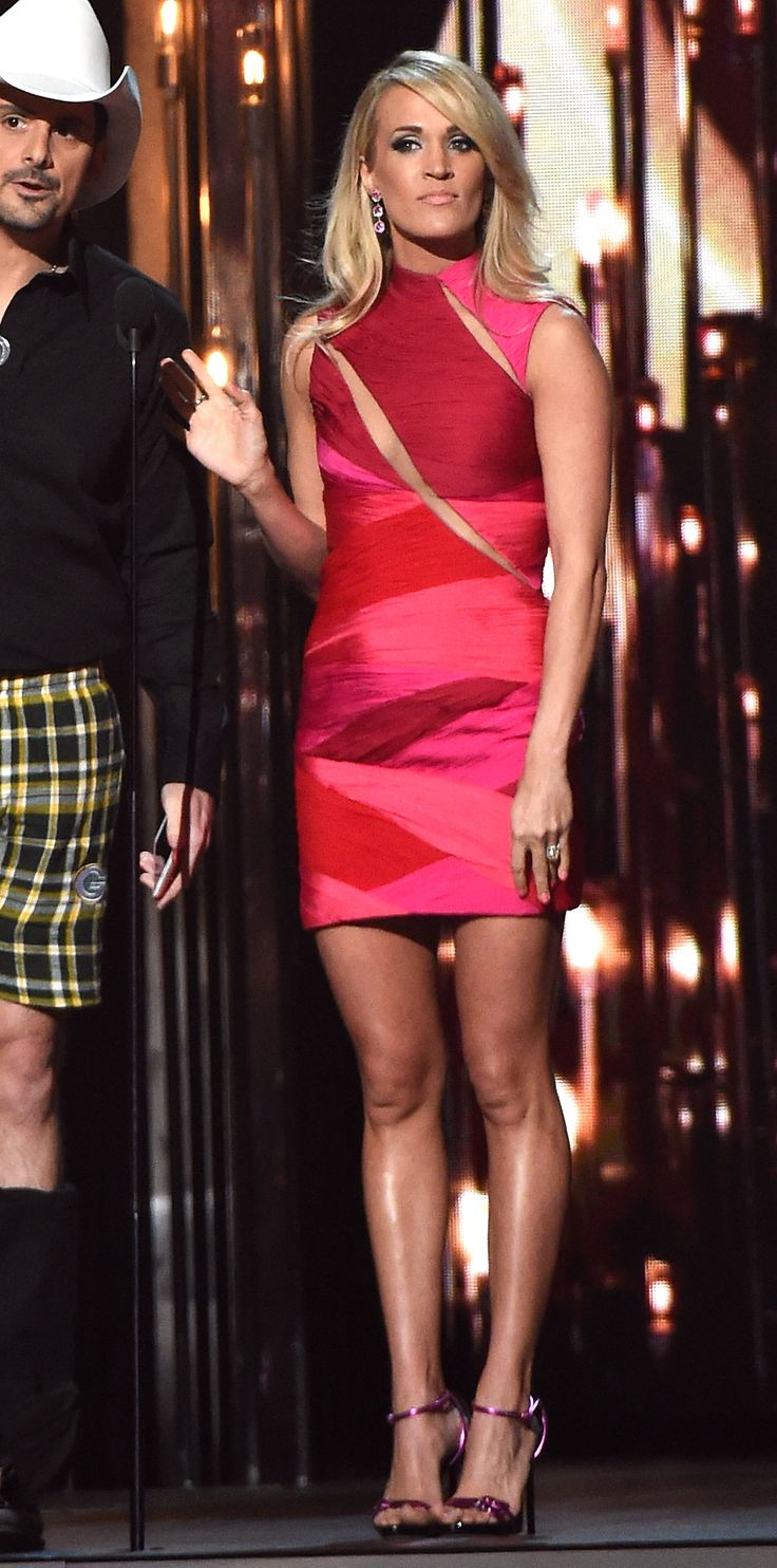 See Carrie Underwood's Many Looks from the 2015 CMA Awards - Opening look  - from InStyle.com