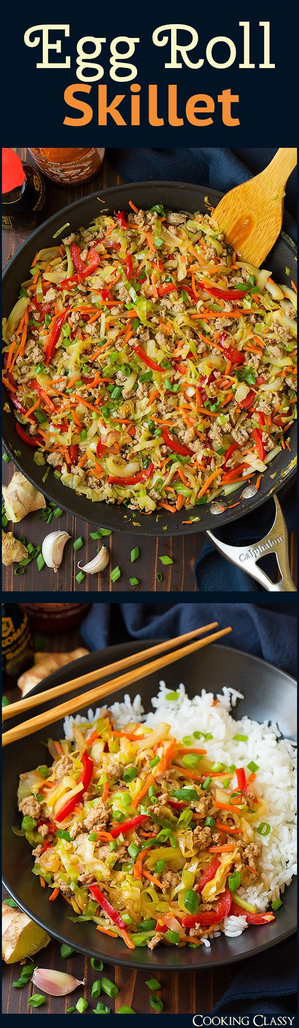 Egg Roll Skillet - All the goodness of an egg roll without all the hassle…