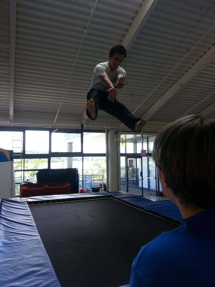 Try this: Fireball on a trampoline!
