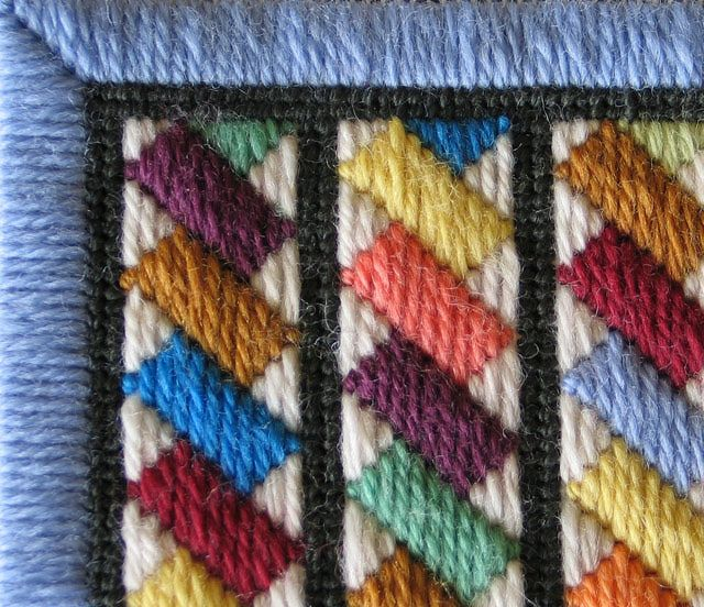 French Braid Needlepoint Pattern and Instructions: Close-Up Detail of the Franch Braid Needlepoint Pattern