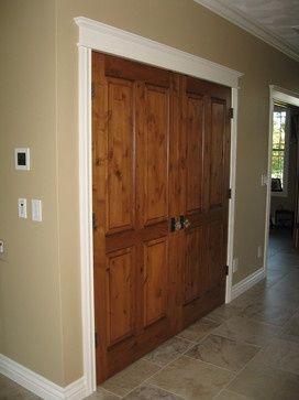 white trim with wood doors | White trim wood door