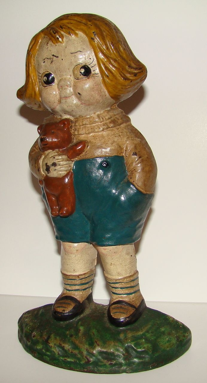 Bobby Blake with teddy bear Door Stopper. Find this Pin and more on Door  Stops - Vintage Cast Iron ... - 500 Best Door Stops - Vintage Cast Iron Images On Pinterest Door