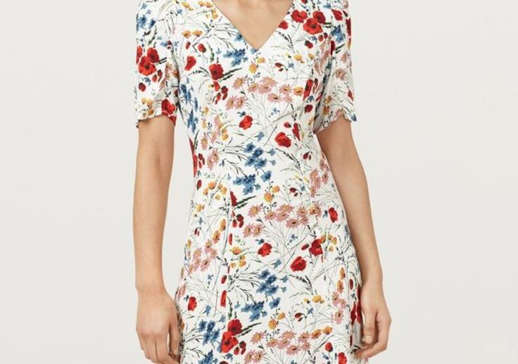 Chancel Wild Flora Print Tea Dress £119 Finery