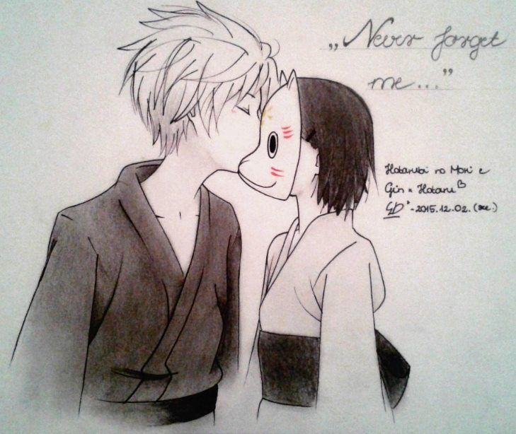 Hotarubi no Mori e fanart... I love this anime, I cry always, when I think this anime...always q.q ...my best of anime movie.. <3 forever Gin and Hotaru