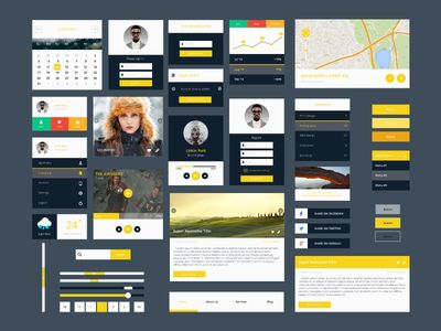 Freebie - Modern Flat PSD Ui Kit