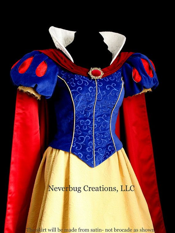 Snow White Parks Costume Embroidered Bodice by NeverbugCreations