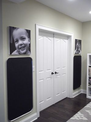 Oil Drip Pan Chalkboards! Oil drip pans sprayed with chalkboard paint to make magnetic chalkboards for kids.