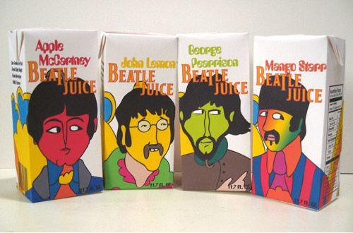 Beatlejuice! I love the Beatles so much and this packaging is just awesome. The names are super creative. Created by Marc Valega. http://www.marcvalega.com/