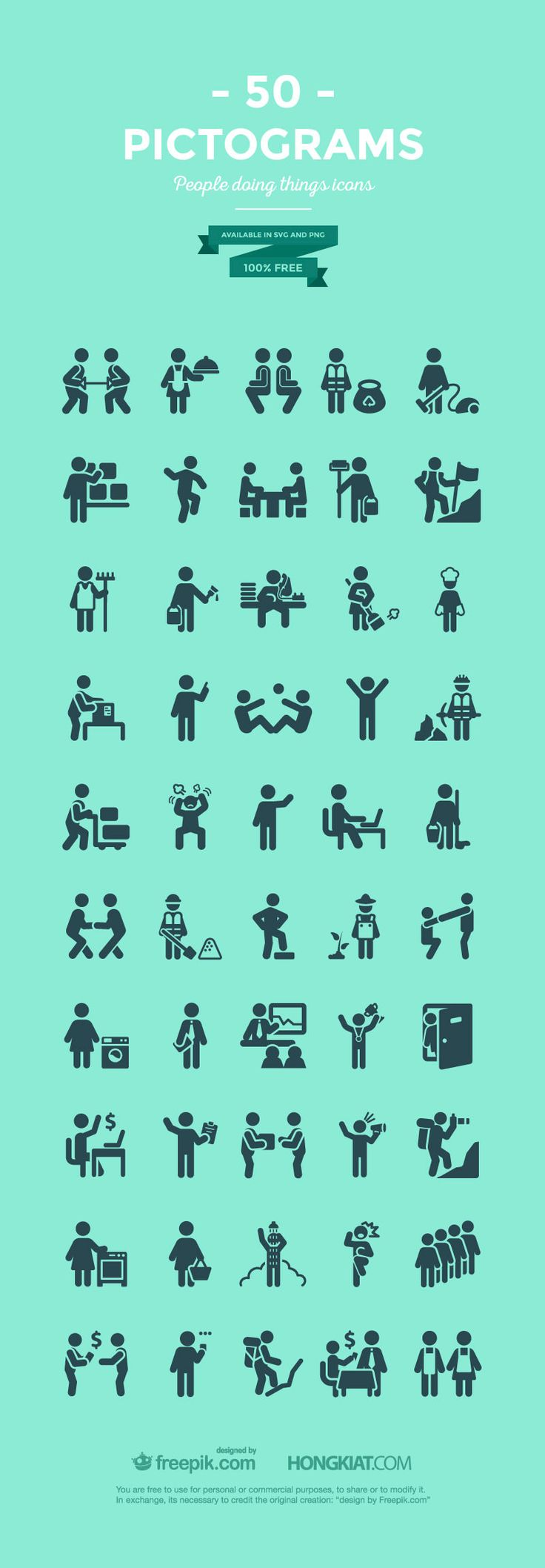 Freebie Release: 50 Pictograms Of Everyday Life