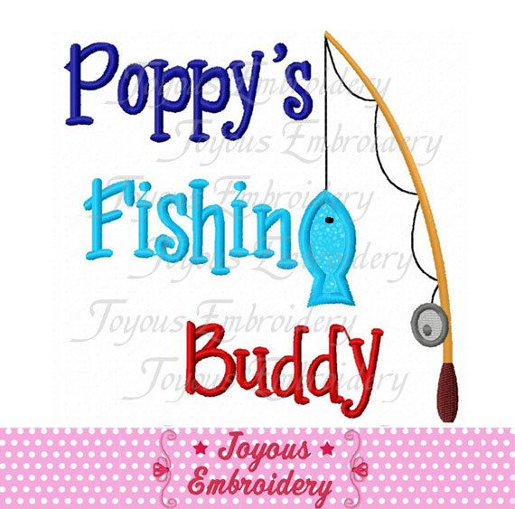 Instant Download Poppy\'s Fishing Buddy Applique Embroidery Design NO ...